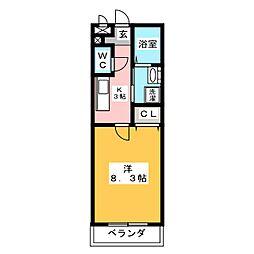 ラ・カーサ・デ東野[1階]の間取り