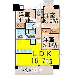 プログレッソ瑞穂汐路[3階]の間取り