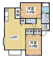 ピュアハイツII A[2階]の間取り