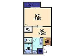 吉岡第3ビル[301号室]の間取り