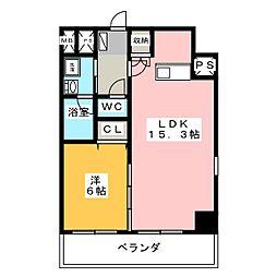 ベレーサ築地口ステーションタワー[13階]の間取り
