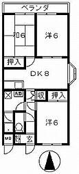 香川県高松市上之町1丁目の賃貸マンションの間取り