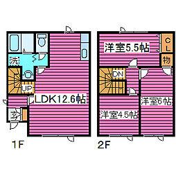 [テラスハウス] 北海道札幌市東区東雁来九条2丁目 の賃貸【/】の間取り