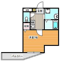シェルブールハイム[3階]の間取り