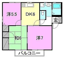 フレグランス新居 AB[A102 号室号室]の間取り