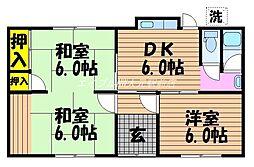[一戸建] 岡山県岡山市北区富田 の賃貸【/】の間取り