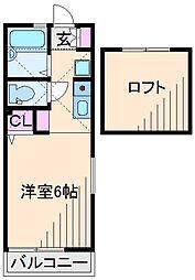 神奈川県横浜市港北区新吉田東1丁目の賃貸アパートの間取り
