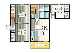 湖北テラスハウス S[1階]の間取り