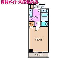 グランシャリオII(久居)[3階]の間取り