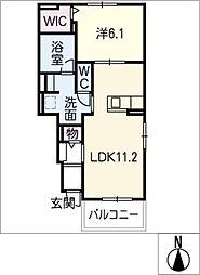 ラルフI[1階]の間取り