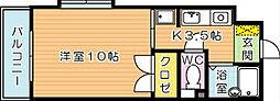 コンドミニアム西本町[4階]の間取り