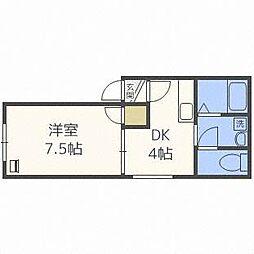 アムクレスト416[3階]の間取り
