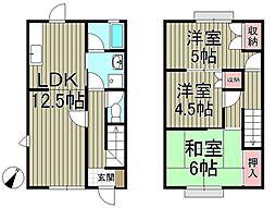 [テラスハウス] 神奈川県鎌倉市岩瀬 の賃貸【/】の間取り