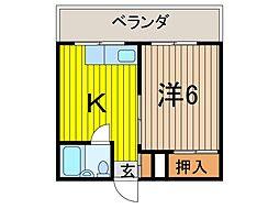信田ビル[3階]の間取り
