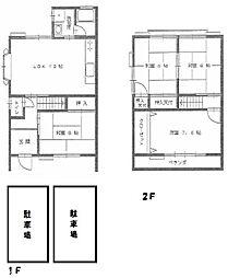 [テラスハウス] 大阪府枚方市星丘4丁目 の賃貸【/】の間取り
