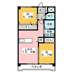 CNstage輝[1階]の間取り