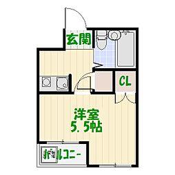 東京都葛飾区西亀有4丁目の賃貸マンションの間取り