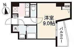 JR高徳線 栗林公園北口駅 徒歩7分の賃貸マンション 10階1Kの間取り