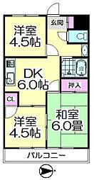 第3山崎マンション[202号室]の間取り