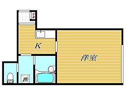 東京都板橋区小豆沢2丁目の賃貸アパートの間取り