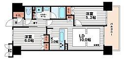 ザ・大阪レジデンス備後町[11階]の間取り