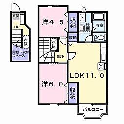 サイモンTHREE−B[0201号室]の間取り
