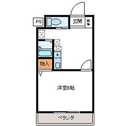 クオーレ平成弐番館[1階]の間取り