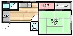 ライフイン住之江C棟[2階]の間取り