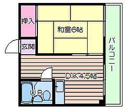 プラスパーハイツ[3階]の間取り