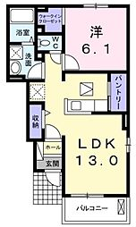 パルティールII[1階]の間取り