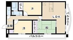 M−ブランドール[402号室]の間取り