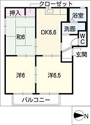 コーポ安濃E[2階]の間取り