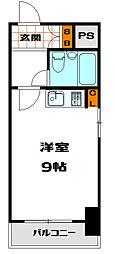 ミフネセントラルベア島之内2号館[7階]の間取り