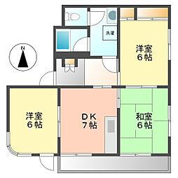 ロジュマン法龍[3階]の間取り