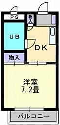 香川県高松市百間町の賃貸マンションの間取り