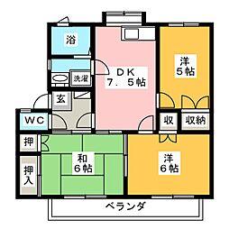 メゾニティーB[-1階]の間取り