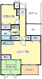 グランコートA棟[2階]の間取り