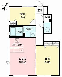 プレミール21 C棟[1階]の間取り