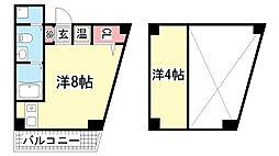 パイン神戸元町[4階]の間取り