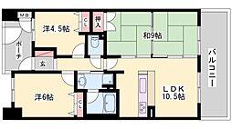 マーレ加古川駅前タワー[10階]の間取り