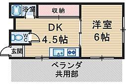 草野マンション21号館[506号室]の間取り