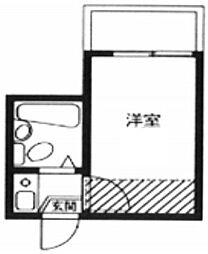 東京都板橋区前野町5丁目の賃貸アパートの間取り