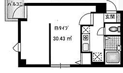 ラポール壱番堂[3階]の間取り