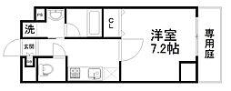 アスヴェル京都東寺前II[1階]の間取り