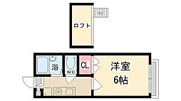 兵庫県伊丹市山田4丁目の賃貸アパートの間取り