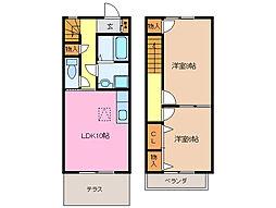 [テラスハウス] 三重県松阪市内五曲町 の賃貸【/】の間取り