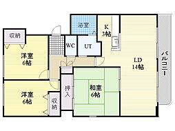 プラーサ菊水元町[505号室]の間取り