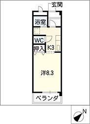 ツインパル21II[3階]の間取り