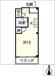 エストゥディオM B棟[2階]の間取り
