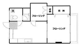 神奈川県横浜市西区老松町の賃貸マンションの間取り